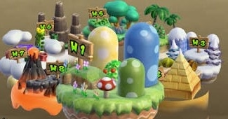 a crappy NSMB Wii map image
